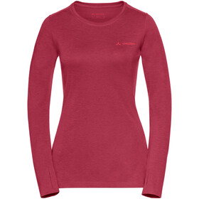 VAUDE Sveit LS Shirt Dam red cluster